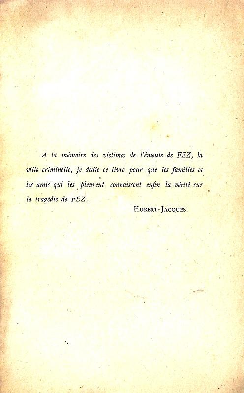 HUBERT-JACQUES : Les journées sanglantes de fez, avril 1912. Bascan11