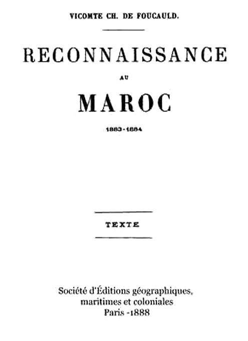 FOUCAULD vicomte Charles de : Reconnaissance au Maroc ( 1888 )  Foucau10