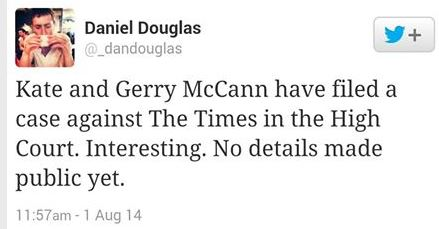 McCanns taking Times to court? Timest10