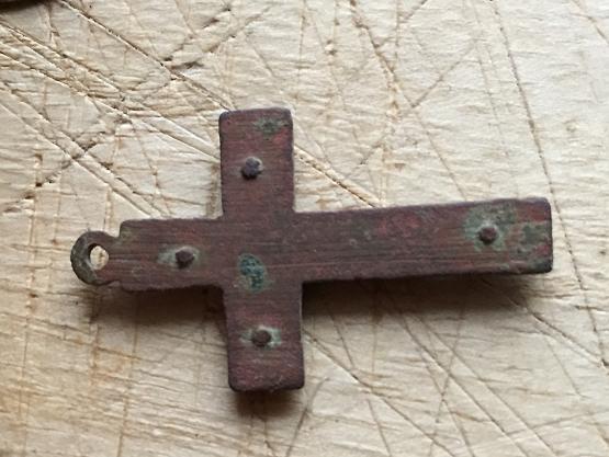 Crucifix avec insert en bois fin XIXème Noel_012