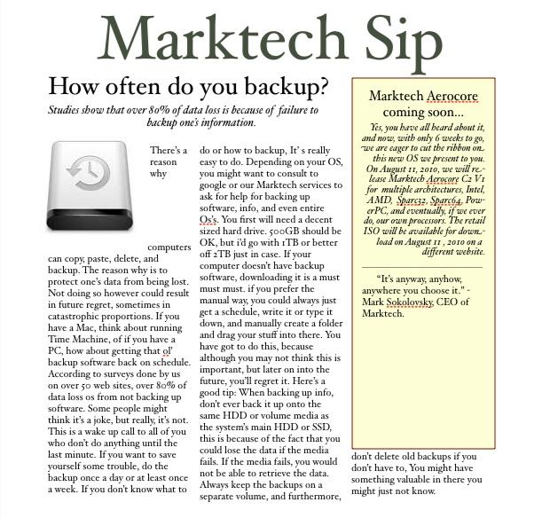 How often do you do backups? Mtsip_10