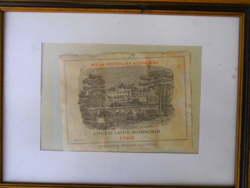 Vends étiquette Chateau Lafite- Rothschild de 1960 03810