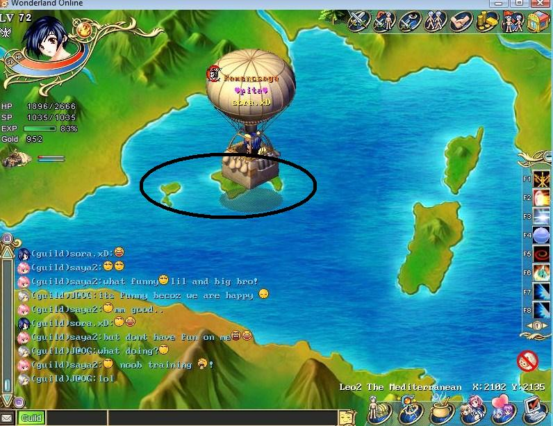 The Location of some new Islands/tonw/florest of v6 Greyre10