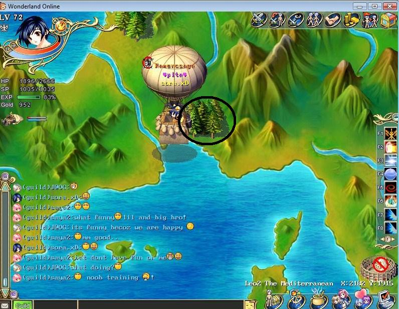 The Location of some new Islands/tonw/florest of v6 Tytryt10
