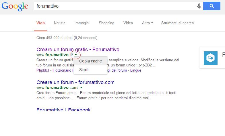 visualizzazione forum problematica Fro10