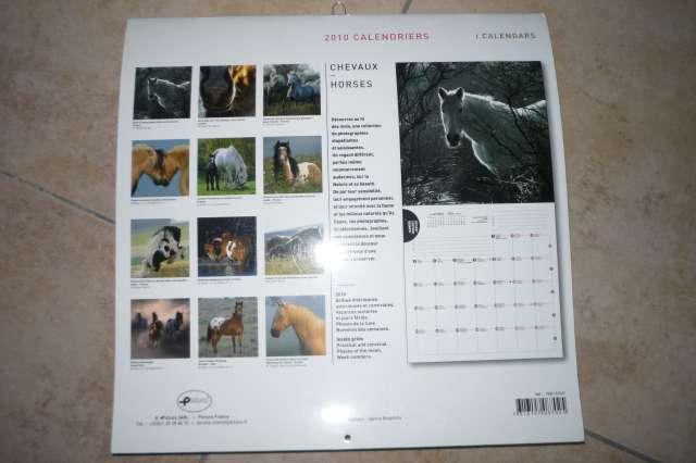 Calendriers chevaux 2009 et  2010 P1230011