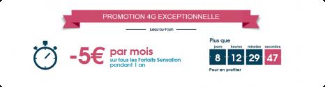 Vente flash : - 5€ sur la Gamme forfaits Sensation 4G 14016510