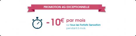 10€ pendant 6 mois sur l'offre Sensation et 30€ offert sur votre smartphone 14026810