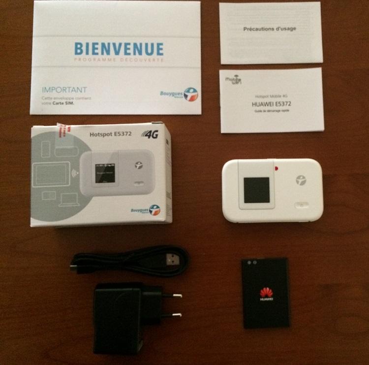 "Hotspot Bbox Nomad ""Huaweï 4G E5372"" à 1€ 2014-010"