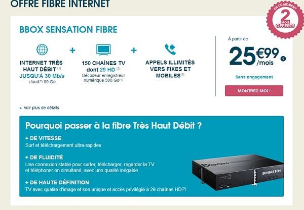 Bbox sensation câble passe à 25.99€ pendant 12 mois Fibret10