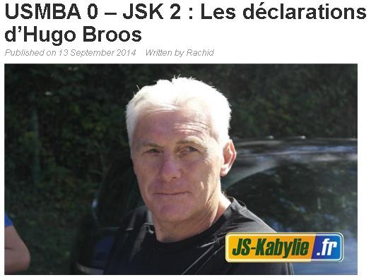 [Ex-Entraineur] Hugo BROOS - Page 3 20140914