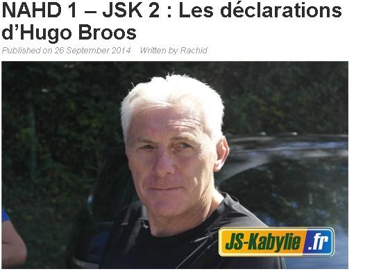 [Ex-Entraineur] Hugo BROOS - Page 4 20140924