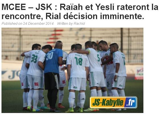 News de la JSKabylie (3) - Page 39 20141226