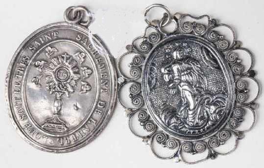Médaille Assomption Vierge Marie - XVIIème 1715_210