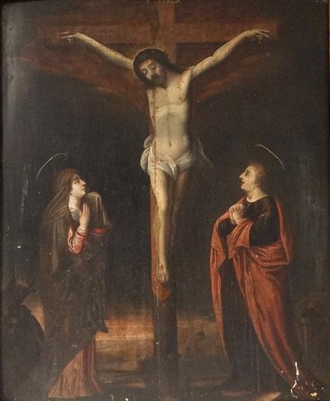 Médaille Scène Crucifixion et St-Christophe - fin XVII / début XVIIIème  55136-10