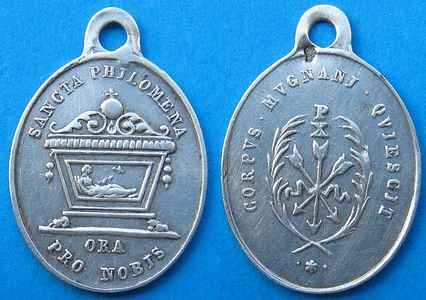Afbeeldingsresultaat voor medaille s philomena ora pro nobis