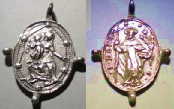 Médaille ND-du-Rosaire & St Dominique Guzman - XVIIème 92041r10