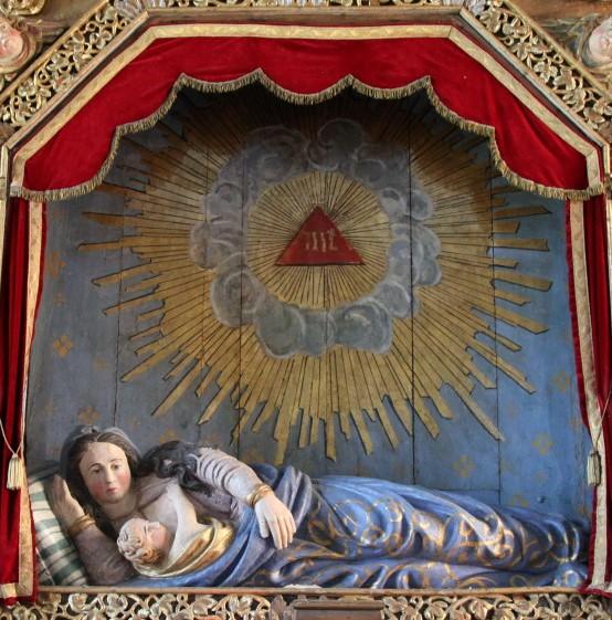 """Médaille en forme de croix - """"ND de la Bonne Mort"""" - Origine Portugal probablement - datée 1732 Vierge10"""
