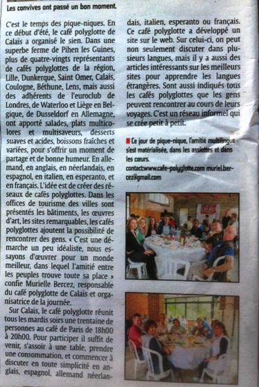 Pique-nique inter cafés polyglottes le samedi 28 juin 2014 (Souvenirs de la journée) Picnic14