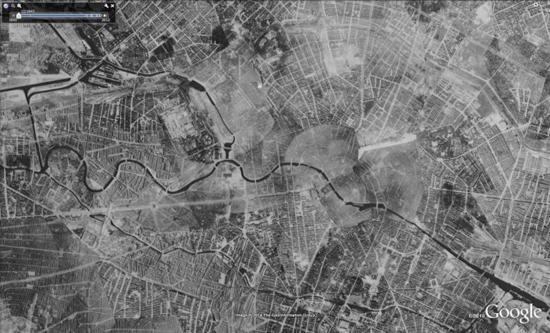 Google Earth remonte le temps : Berlin et autres villes Allemandes dans les années 1940 194310