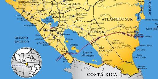 ( JAMAIS visible sur google earth ) canal interocéanique Nicaragua Canal10