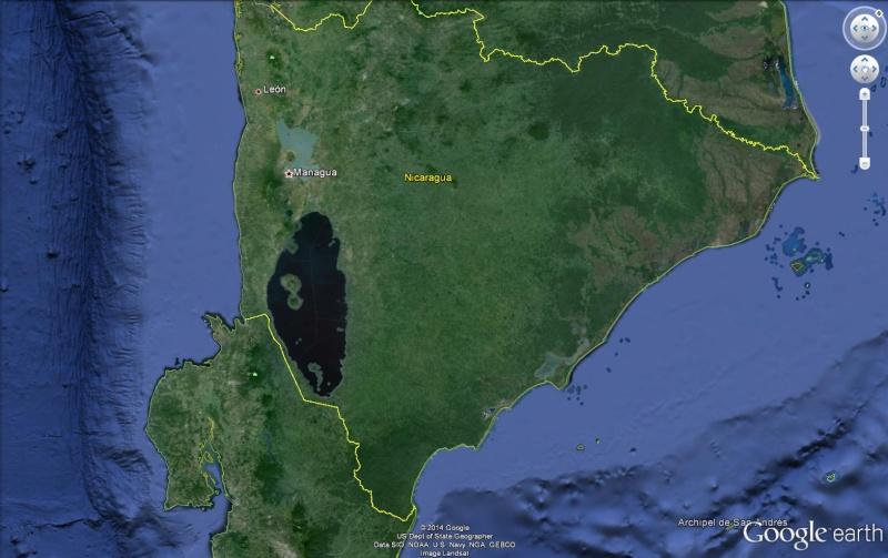 ( JAMAIS visible sur google earth ) canal interocéanique Nicaragua Canal210