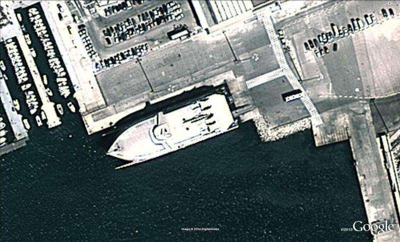 Les ferries HSV2 sur Google Earth Ferry10
