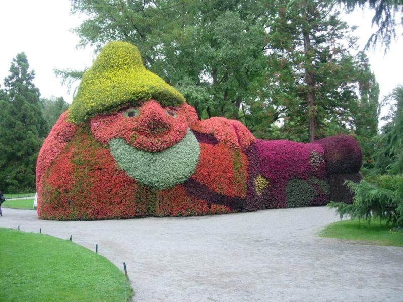 Massif de fleurs à Constance - Allemagne Nai110