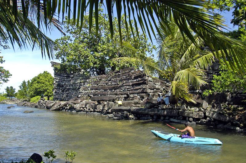 Nan Madol, ancienne capitale des Saudeleurs, Ile Ponape (ou pohnpei) - Micronésie Nan510