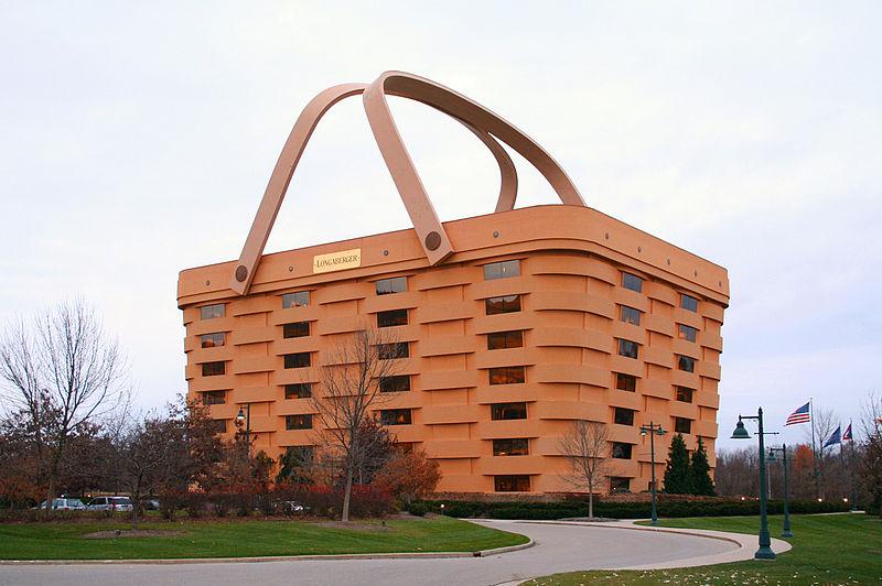 Immeuble en forme de panier de pique-nique, siège de Longaberger, Newark, Ohio - USA Pan110