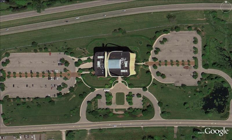 Immeuble en forme de panier de pique-nique, siège de Longaberger, Newark, Ohio - USA Pan210