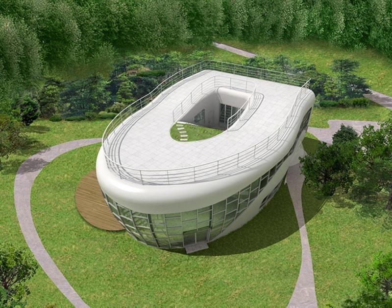 Immeuble en forme de panier de pique-nique, siège de Longaberger, Newark, Ohio - USA Toi10