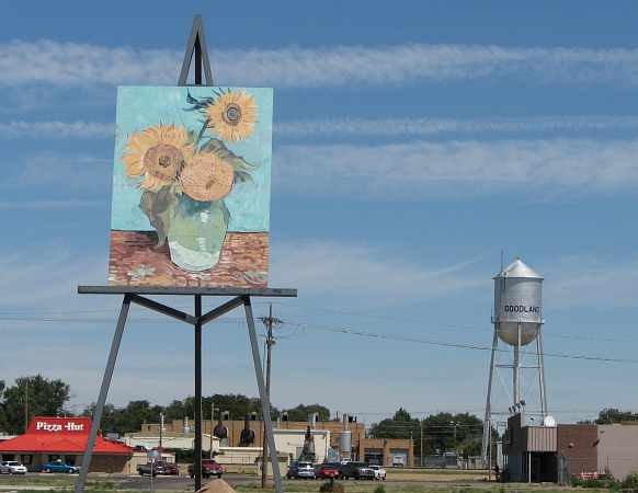 Tournesol à Goodland, Kansas - USA Van110