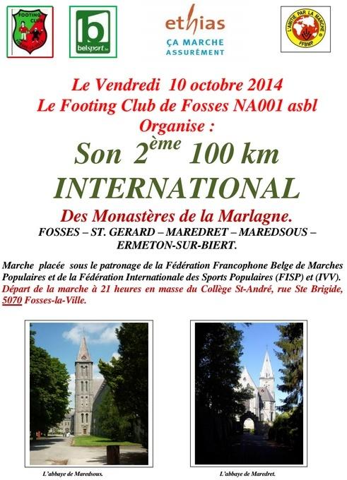 2ème 100km des Monastères de la Marlagne: 10-11/10/2014 100kmm10