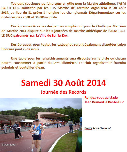 30.000M, 2h, etc. ; chpts de Meuse: 30 août 2014 Bar_3014