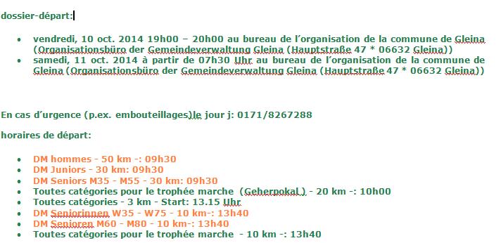 50km chpt All., 30km vét M, 20km, etc; Gleina(D): 11/10/2014 Gleina12