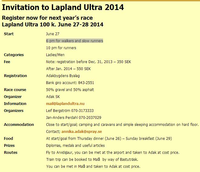 Lapland Ultra: 100km (20h) en Laponie: 27-28 juin 2014 Laplan11