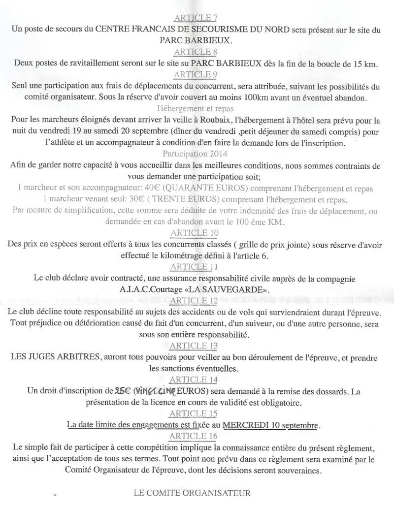 28 heures de Roubaix: 20-21 septembre 2014 Numari12