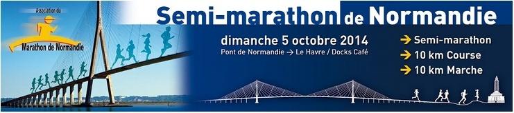 10km marche du Semi-marathon de Normandie: 05/10/2014 Semi_d10
