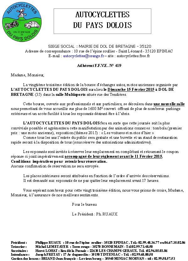 Bourse Autocyclette du Pays Dolois - 15/02/15. Bourse10