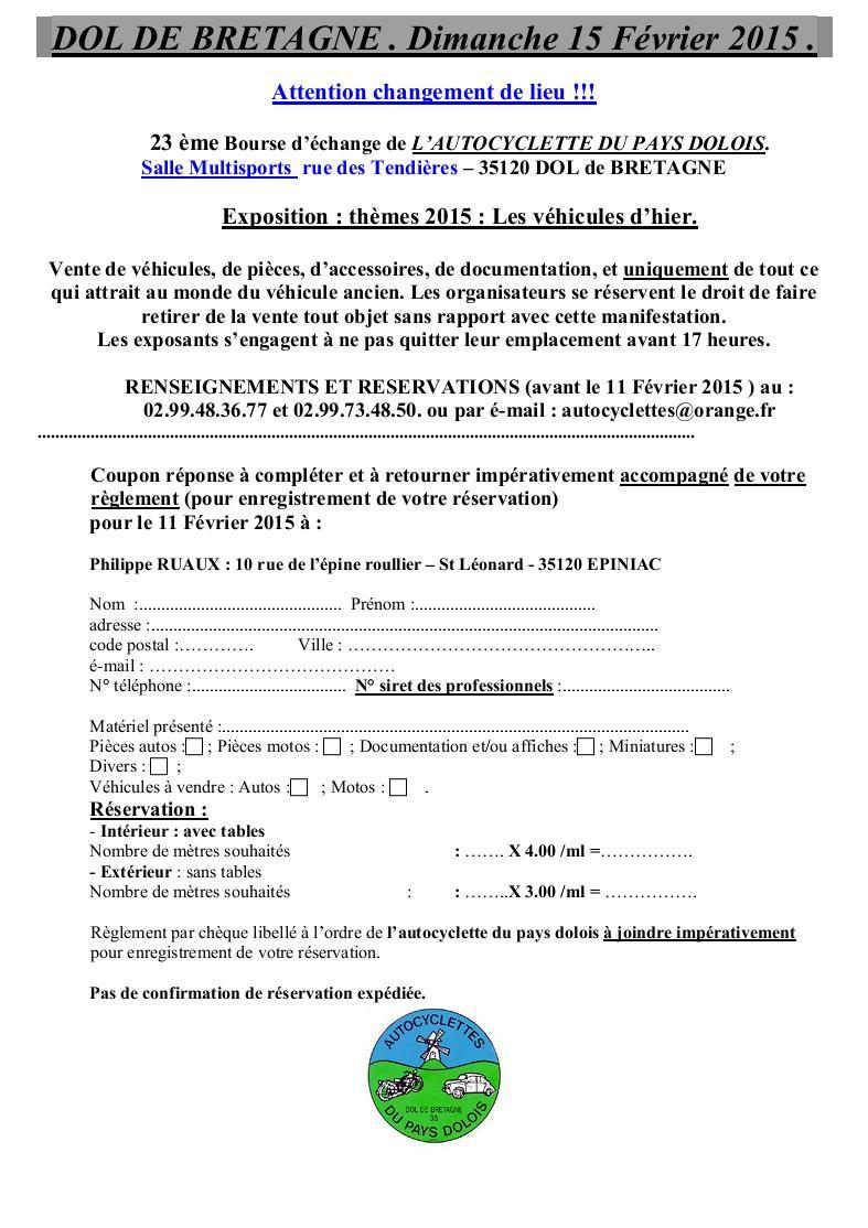 Bourse Autocyclette du Pays Dolois - 15/02/15. Bourse11