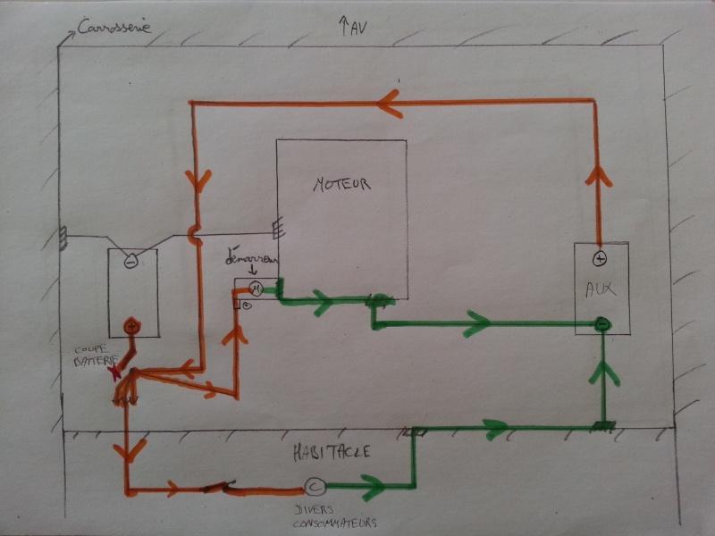 Montage coupe circuit kzj 73 avec 2 batteries 310
