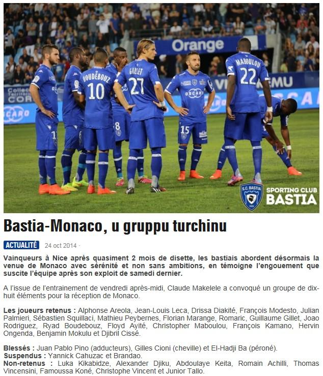 J11 / Jeu des pronos - Prono Bastia-Monaco S205