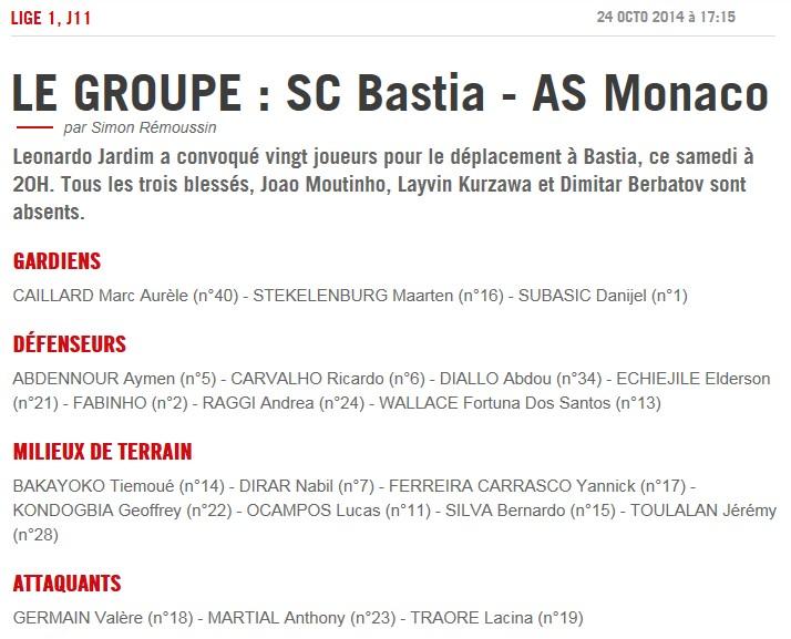 J11 / Jeu des pronos - Prono Bastia-Monaco S207