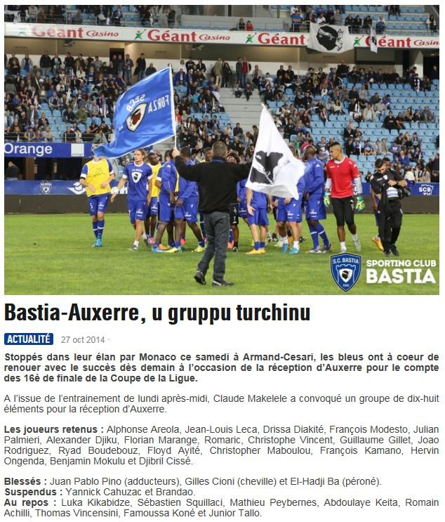 16CdL / Jeu des pronos - Prono Bastia-Auxerre S216