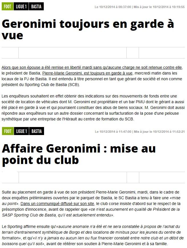Pierre-Marie Geronimi en garde à vue S232