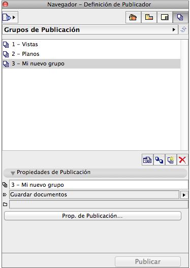 Definición de un Conjunto de Publicador Captur32