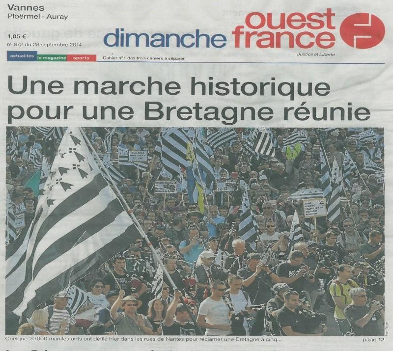 20 000 manifestants pour la réunification à Nantes Naoned10