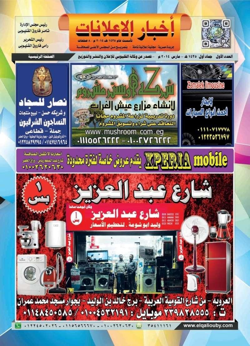 جريدة أخبار الإعلانات - العدد الأول 110