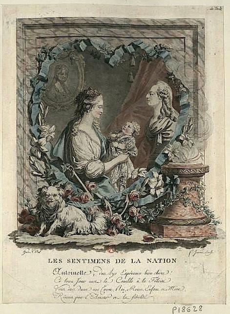Naissances illustrées des enfants de Marie-Antoinette  Prasen10